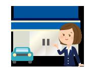 空港到着後、無料送迎でスカイレンタカー神戸空港営業所へ